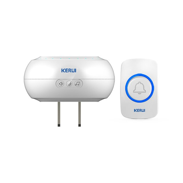 Kerui M523 Wireless Doorbell with F51 Push Button, Operating at over 500 Feet with 32 Chimes, 4 Volume Levels, LED Indicator, 1 Plugin Receiver & 1 Push Button