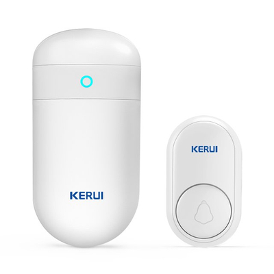 Kerui M518 Self Power Generation Doorbell with F56 Push Button, Operating at over 500 Feet with 52 Chimes, 5 Volume Levels, LED Indicator, 1 Plugin Receiver & 1 Push Button