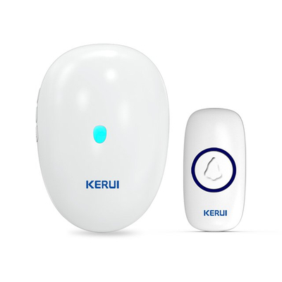Kerui M521 Wireless Doorbell with F55 Push Button, Operating at over 500 Feet with 57 Chimes, 4 Volume Levels, LED Indicator, Memory Function, 1 Plugin Receiver & 1 Push Button Transmitter